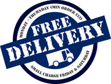 Mon-Thu Free Delivery, weekends are just £1